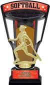 "Hasty Awards 9.25"" Stadium Back Softball Trophies"