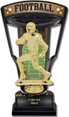 "Hasty Awards 9.25"" Stadium Back Football Trophies"