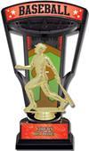 """Hasty Awards 9.25"""" Stadium Back Baseball Trophies"""