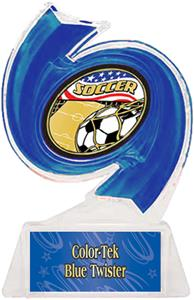 BLUE TROPHY/BLUE TWISTER LABEL/AMERICANA MYLAR