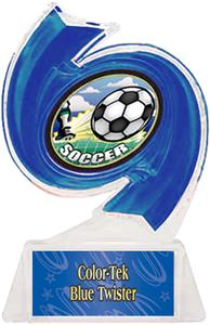 BLUE TROPHY/BLUE TWISTER LABEL/HD MYLAR