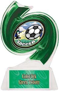 GREEN TROPHY/GREEN TWISTER LABEL/HD MYLAR