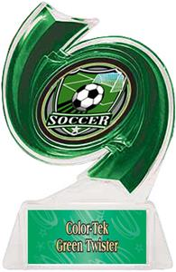 GREEN TROPHY/GREEN TWISTER LABEL/SHIELD MYLAR