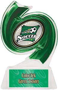GREEN TROPHY/GREEN TWISTER LABEL/XTREME MYLAR