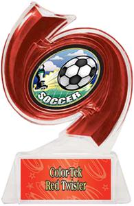 RED TROPHY/RED TWISTER LABEL/HD MYLAR