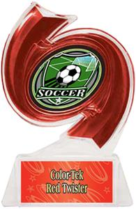 RED TROPHY/RED TWISTER LABEL/SHIELD MYLAR