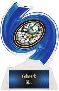 BLUE TROPHY/BLUE TEK LABEL/BUST-OUT MYLAR
