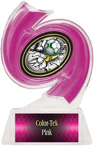 PINK TROPHY/PINK TEK LABEL/BUST-OUT MYLAR