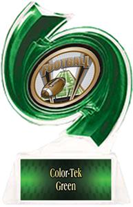 GREEN TROPHY/GREEN TEK PLATE - SHIELD MYLAR