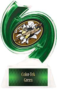 GREEN TROPHY/GREEN TEK LABEL - BUST-OUT MYLAR