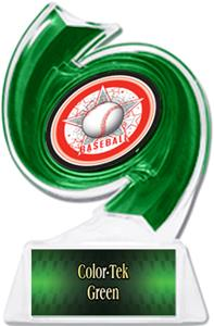 GREEN TROPHY/GREEN TEK PLATE - ALL-STAR  MYLAR