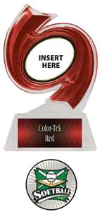 RED TROPHY/RED TEK LABEL - XTREME SOFTBALL MYLAR