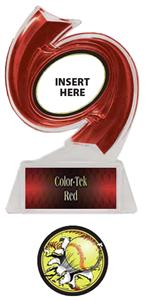 RED TROPHY/RED TEK LABEL - BUST-OUT SOFTBALL MYLAR