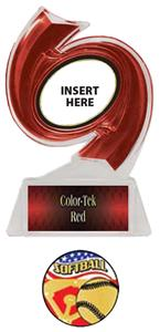RED TROPHY/RED TEK LABEL - AMERICANA SOFTBALL MYLA