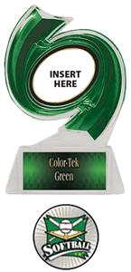 GREEN TROPHY/GREEN TEK LABEL - XTREME SOFTBALL MYL