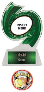 GREEN TROPHY/GREEN TEK LABEL - PROSPORT SOFTBALL M