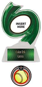 GREEN TROPHY/GREEN TEK LABEL - ECLIPSE SOFTBALL MY