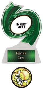 GREEN TROPHY/GREEN TEK LABEL - BUST-OUT SOFTBALL M