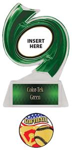GREEN TROPHY/GREEN TEK LABEL - AMERICANA SOFTBALL