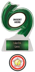 GREEN TROPHY/GREEN TEK LABEL - ALL-STAR SOFTBALL M