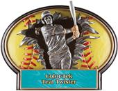 Hasty Awards Softball Burst-Out Resin Trophies