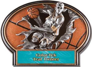 TEAL COLOR-TEK TWISTER LABEL
