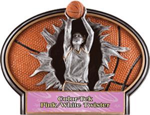 PINK/WHITE COLOR-TEK TWISTER LABEL