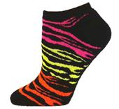 Red Lion Cool Cat Tiger/Zebra Low Cut Socks