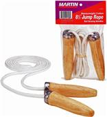 Martin Cotton Jump Rope Wood Bearing Handles