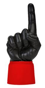 SCARLET JERSEY / BLACK HAND