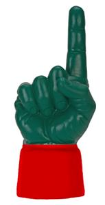 SCARLET JERSEY / FOREST GREEN HAND