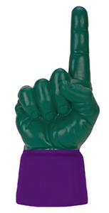 PURPLE JERSEY / FOREST GREEN HAND