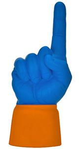 ORANGE JERSEY / ROYAL BLUE HAND
