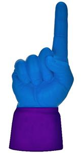 PURPLE JERSEY / ROYAL BLUE HAND
