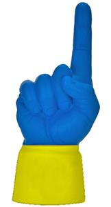 YELLOW JERSEY / ROYAL BLUE HAND