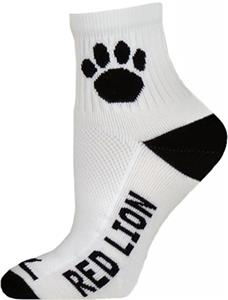 WHITE-BLACK 1/4 CREW SOCK