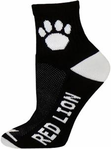 BLACK-WHITE 1/4 CREW SOCK