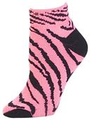 Pizzazz Cheerleaders Zebra Stripe Anklet Socks