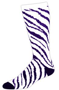 WHITE/PURPLE ZEBRA