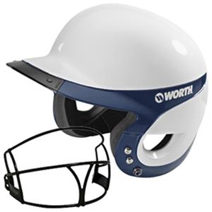 WHITE/NAVY W/FACEGUARD