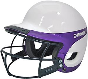 WHITE/PURPLE W/FACEGUARD