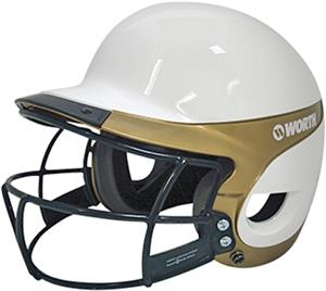 WHITE/VEGAS GOLD W/FACEGUARD