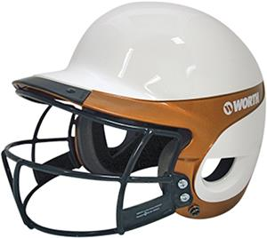 WHITE/TEXAS ORANGE W/FACEGUARD