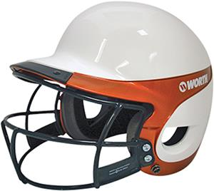 WHITE/ORANGE W/FACEGUARD