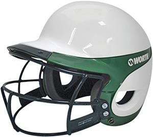 WHITE/DARK GREEN W/FACEGUARD
