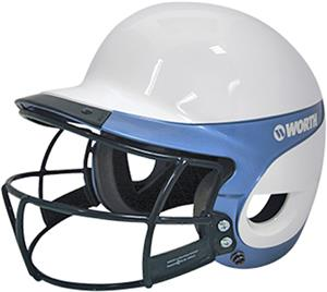 WHITE/COLUMBIA BLUE W/FACEGUARD