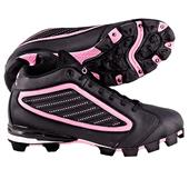 ACACIA Youth Pink Diamond-Mid Softball Cleats