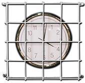 Gymnasium Square Wire Clock Guards