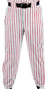 WHITE PANT/SCARLET STRIPES