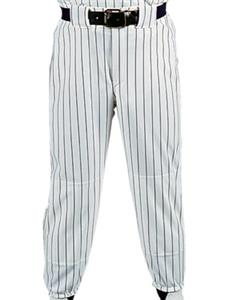 9P-WHITE PANT/MAROON STRIPES
